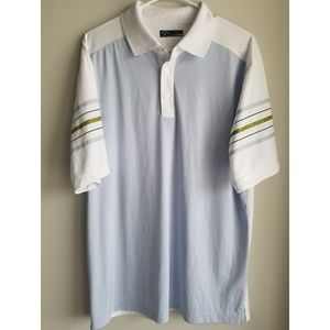 MENS SIZE LARGE WHITE CALLAWAY GOLF POLO